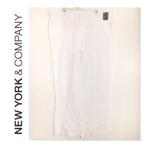 NWT NY&CO Soho White Linen Pants